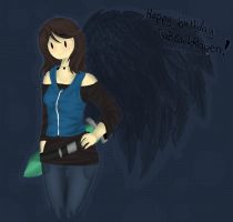 Happy Birthday TiaBlackRaven by Drawing-Heart