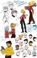 SILLY TREK CHARACTER DUUUMP by AgentDax
