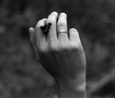 Hand with butterfly by vlvt