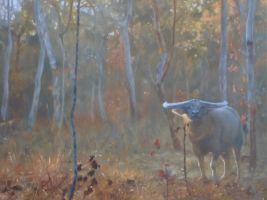 The Huntered - Oil Painting by AstridBruning