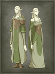 U'rth: Fey - Common Elves by Blazbaros