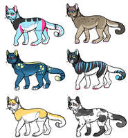 Cat adoptables! by Lodidah