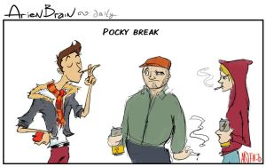 arien brain: pocky break by therealarien