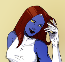 Raven Darkholme [Mystique] by VienneseWafers
