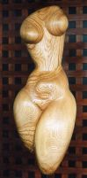 standing torso in ash wood by gecko-online