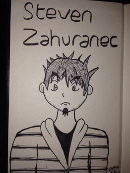 Pocket Sketchbook Entry #1: Anime Self Portrait by Zahuranecs