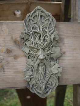 Odin's Face in the trees by Dragoroth-stock