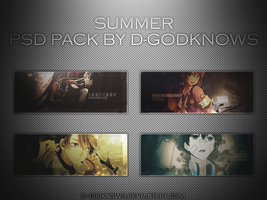 Summer PSD Pack By D-GodKnows by D-GodKnows