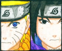 Naruto and Sasuke by king00Nayr