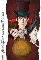 "LUPIN  ""Lupin 3 as Lupin 1"" by handesigner"