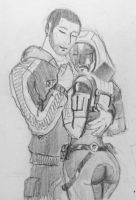 Tali x Shepard (88) by spaceMAXmarine