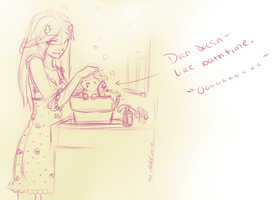 Desidero and Dren 2013 11 20 bathtime by theNekk