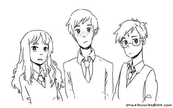 The Golden Trio by BLuwish