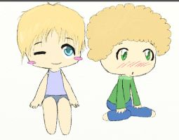 Chibis Ethan and Sam by ManixPanix