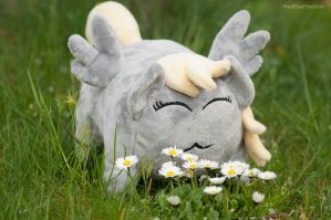 Derpy loaf enjoying some flowers by PheiPlushies