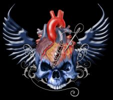 Skull Heart by hitgurlzbigdaddy