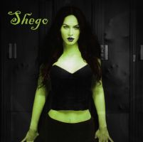 (Fake)Kim Possible Live Action: Megan Fox as Shego by LilMissPoison