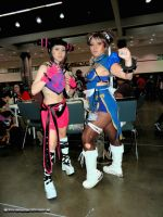 Chun Li and Juri Han by bear213