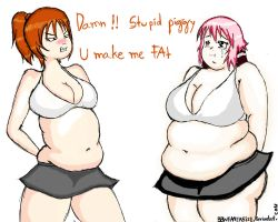 Riharu weight gain 2 by TheBellyBloomIsland