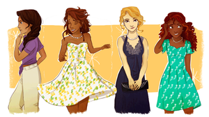 The Ladies of Olympus by Vanilla-Fireflies