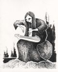 Louhi Playing the Kantele by DustyCandy