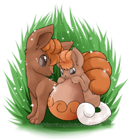 Vulpix Draw me a Pokemon by Zusuriki
