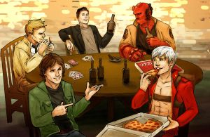 Demon Hunting Guys Night Out by Haganegirl