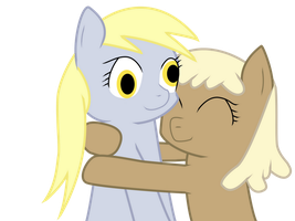 Hugging Derpy by Sintakhra