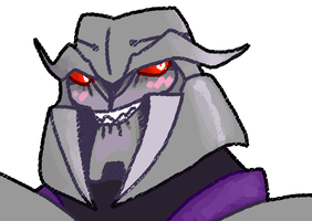 Now, Megatron was rambunctious hoping to lay by Pumpkabooz
