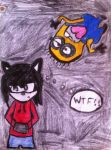 Sketch RQ #13 - Jack The Hedgehog And Minion by ShadougeSwag8D