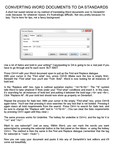 Converting Word Documents to DA Formatting by RinaCath