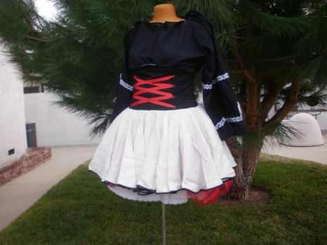 Corset Skirt and Peasant Blouse by racheldesade
