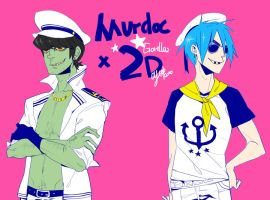 Murdoc And 2D by JosukeKato