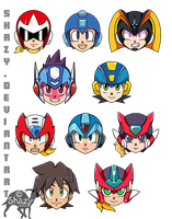 Mega Man Button Badges by shazy