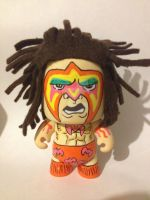 Ultimate Warrior custom painted vinyl figure by CaptainMarvelous