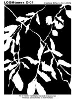 LOOMtones C01 Black Foliage by LOOMcomics