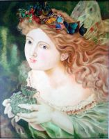 Fairy in Oil color by esha28