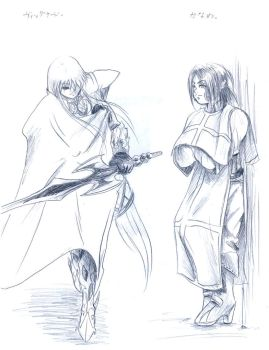 Sketch of Kaname and Vignard by Ferenand