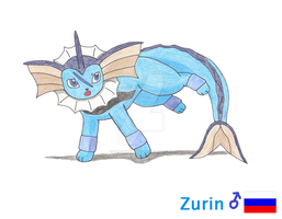 Zurin the Vaporeon by Sir-Genesis