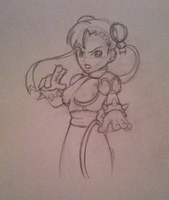 Chun-Li WIP by EmmersDrawberry