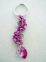 Breast Cancer Keychain by CharmingChains