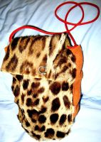 Leopard fur bag by CindarellaPop