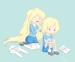 Finn and Fionna by Luwo