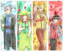 Seasonal Bookmarks by hopelessromantic721