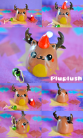 Pluplush Bruno the brownnosed reindeer by Superpluplush