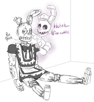 Springtrap Got Pranked by Cephei97