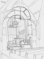 Chapel Drawing by ehrehrere