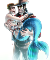 TF2: MermanScout wounded by DarkLitria