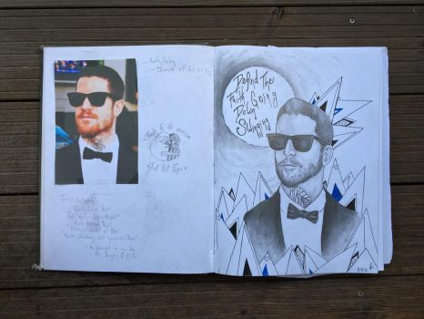 Andrew Hurley // Sketchbook Page  by FolieASkye