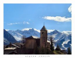 Alpine Church by JonasLuc
